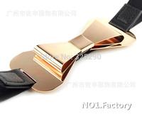 2014 new Designer Belts female Metal Keeper Metallic Bling Gold Mirror 2cm Wide Obi Belt for women Free Shipping