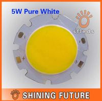 5W Pure White Round COB LED SMD Light Lamp Bulb DC 18V 6000-6500K 350LM~400LM