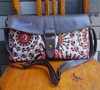 Brand New Fashion desigual bag embroidered vintage canvas bag shoulder bag girl Messenger Bags