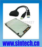"SINTECH NGFF M.2 SSD to 2.5"" 22pin SATA Adapter card+case+USB 3.0 SATA cable"
