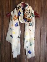 100% genuine Si Xili large size long scarf yarn Butterfly