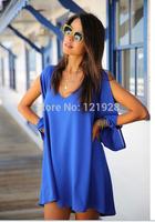 2014  Women Casual Summer Dress Brand New  Loose Street Brief Dress Elegant Fashion Casual Dress 4 COlors New Design