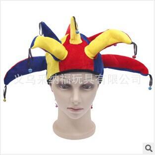 Dia das crianças masquerade trajes de Halloween desempenho fabricantes de pneus produtos listrado chapéu do palhaço(China (Mainland))