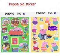 10pcs/lots 2014 New hot Peppa Pig series sticker  for Children
