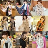 17 Styles 2014 New Hot Sale Summer-Autumn Voile Women Scarf Fashion Chiffon Long Shawl Pashmina 160cm*70cm Free Shipping