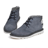 Matin Ankle Boots Autumn/Winter Shoes Leather Boots Men Casual Botas Masculinas New 2014 Sapatos Footwear