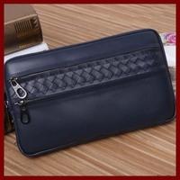 European American Brand Men Leather Wallets 100% Genuine Leather Men Wallets Men Change Cash Zipper Purses Card Money Wallets
