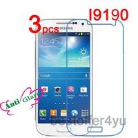 3pcs Matte Anti-glare S4 Mini i9190 Screen Protector Guard Cover Film For Samsung Galaxy S4 Mini i9190 Protective Film +cloth