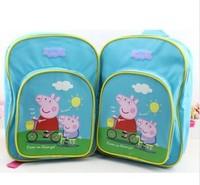 1pcs 2014 New hot  Peppa Pig School bag for Boys girls children Bag  size34x25x10 cm