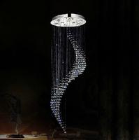 Free shipping new modern spiral design fashion led lighting lustre chandelier lighting Dia60*H260cm guarantee 100%