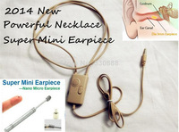 2014 New 3Watt Powerful 40-50cm neckloop skin necklace mini earpiece micro nano  earpiece