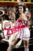 Sexy Nurse Costume Uniform Clothing Fantasias Erotic Womens Halloween Costumes