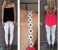 2014 New Summer Women Fashion Chiffon Tank Tops Vest Shirts black/rose red Chiffon Loose Top Shirt Tees Camisole Sexy Crop Top