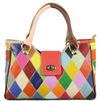 Wholesale 2014 new Sheepskin genuine leather handbag,Fashion color stitching Leather laptop inclined shoulder bag handbag