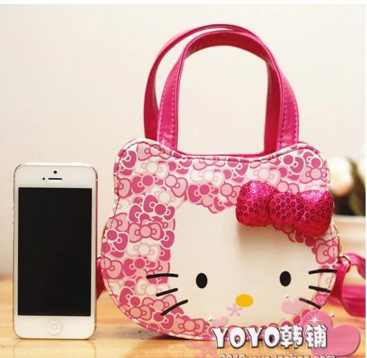 Hello Kitty Totes Cute Hello Kitty Bags children Casual Handbag Cartoon Lovely Shoulder bag High Quality Free shipping(China (Mainland))