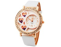 Dfa Round Dial Analog Watch with Crystals & Beads Decoration (Assorted Colors) M. Free Shipping