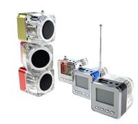 5 Colors Digital Portable Mini Speaker Music MP3/4 Player Micro SD/TF FM USB Disk Speaker FM Radio LCD Display 5*5cm