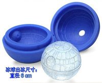 100 pcs free shipping Death star wars Silicone Ice Tray Cube Mold Maker Ice ball Mould bar party freezing