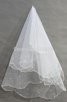 New arrival 2014 Bridal evening dress accessories beads veil 135cm-175cm  TS-2#