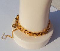 NEW Originality Unisex THICK 14K GOLD FILLED CUBAN LINK CHAIN BRACELET Reinforce