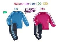 Retail 1set children's sportswear sport set jogging long sleeve t-shirt + pants for boys girls tracksuits shampooers clothes