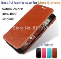 2014 New Slim Flip PU Leather Case Skin Cover For Motorola Moto G Gphone XT1032 XT1033