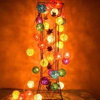 2.5m 20 Lamps Thailand Vine Balls LED String Multicolor Holiday Christmas Wedding Decoracao Curtain Light lamp EU/US/UK/AU
