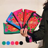 Free Shipping  Women Bag,  National Retro handbag phone ,  Peony flower embroidery bag, China style