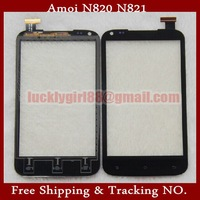 "Original 4.5"" Amoi N820 N821 Smartphone Prestigio Touch Screen Phones Digitizer Touch Panel Glass Replacement  White/black"
