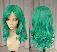 FREE SHIPPING SAILOR MOON Sailor Neptune Kaiou Michiru Anime Green Long Synthetic Hair Cosplay Wig