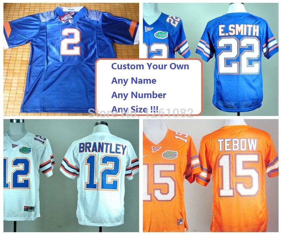 Men Custom NCAA Florida Gators Team Color Blue Orange White New Pro Combat Personalized College Football Jerseys Size M- 4XL 5XL(China (Mainland))