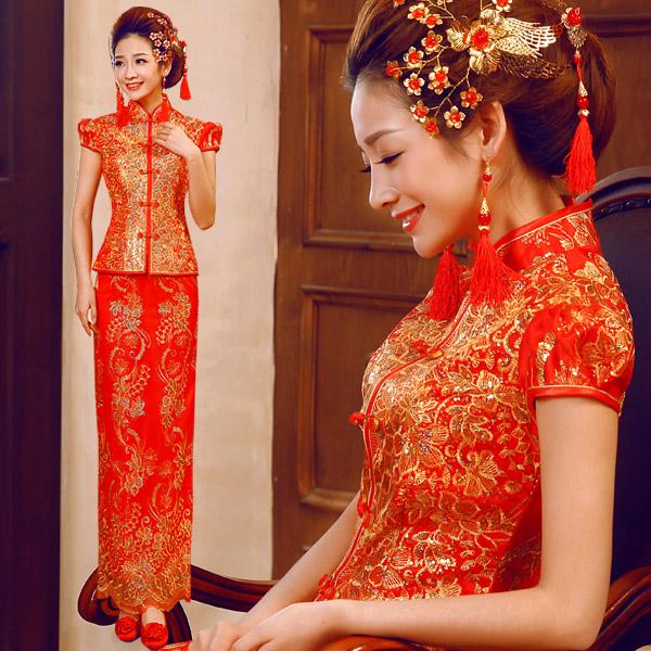Dress Cheongsam Qipao Red