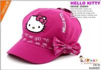 Hello Kitty Baseball Hats 100% cotton Girl Hats Caps Spring Autumn Child Sun Hats Kids Beret Caps 2014 New Fashion Free Shipping