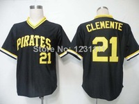 Pittsburgh #21 Roberto Clemente Jersey,Throwback Baseball Jersey,Top quality,Embroidery logos,Authentic Jersey,Accept Mix Order