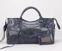 Top quality original messenger Yau Wax calf leather deep blue size L handbag shoulder bag fashion gift free shipping wholesale
