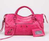 Top quality original messenger Yau Wax calf leather hot pink size L handbag shoulder bag fashion gift free shipping wholesale