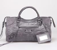 Top quality original messenger Yau Wax calf leather dark gray size L handbag shoulder bag fashion gift free shipping wholesale