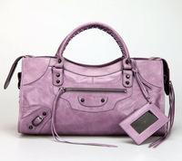 Top quality original messenger Yau Wax calf leather lavender size L handbag shoulder bag fashion gift free shipping wholesale