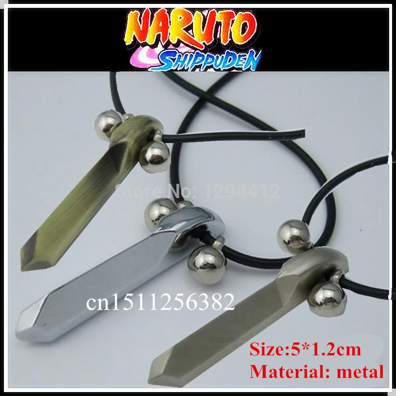 Free shipping Naruto necklace 3pcs/lot 3 style Metal material Naruto steel hand naruto necklace naruto cosplay(China (Mainland))