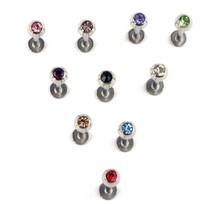 NEW 10pcs Rhinestone Crystal 316 Steel Ball Labret Lip Bar body jewelry Piercing