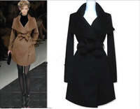 Free shipping new 2014 spring autumn winter fashion wool jacket medium-long design brand wool coat outerwear trench 304