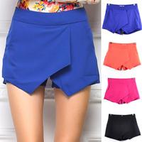 Sexy Western Big Celebrity Slim Skorts Shorts For women Fashion Criss- Cross Cascade Irregular Shorts Skirts Hot Summer shorts