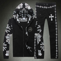 2014 Brand Fashion men coat jacket sports tracksuit spring autumn sportswear leisure jogging suit Sweatshirts set M-3XL
