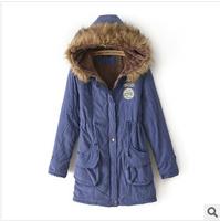 women coat, long fur collar hooded women coat,warm winter parkas,fashion 7 colors 6 size  berber Fleece lining winter coat,L0805