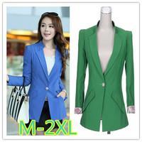 M-XXL size blazer women 2014 new women slim plus size single breasted cheap female blazers free shipping