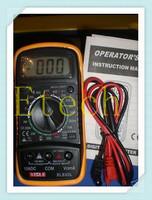 LCD Digital Multimeter AC DC Ohm VOLT Meter Voltmeter Ohmmeter Ammeter Yellow Back CoverS1053