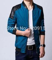 New style spring  summer clothing men Thin korean jacket stand collar Shitsuke SIMPLE joker  jacket 904  free shipping