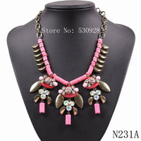 fashion brand 2014 new design cheap gold plated chain sexy statement necklace for women free shipping