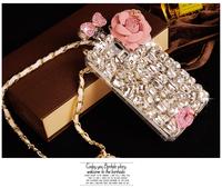 3D Bling Bling Rhinestone Diamond Perfume Bottle Case For Samsung Galaxy S3 S4 S5 Note2 Note3 I9300 I9500 I9600 N7100 N9000