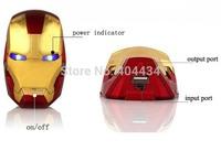 8000mah USB mobile charger Iron Man power bank external battery backup pack 20pcs/lot